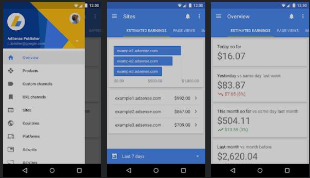 تطبيق Google AdSense